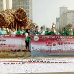 UIC Kampanye Pemilu Anti Curang di Car Free Day Jakarta