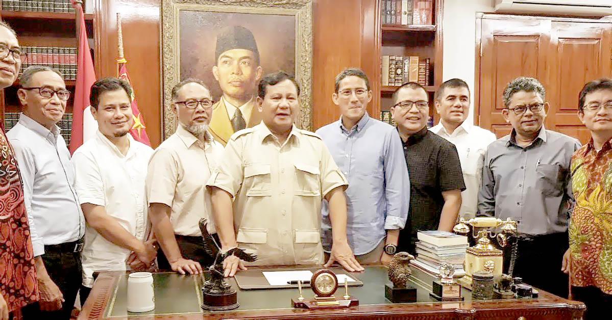 Partai Koalisi Prabowo-Sandi: Gerindra, PKS, PAN, Berkarya Dan Demokrat Sebaiknya Jadi Penyeimbang