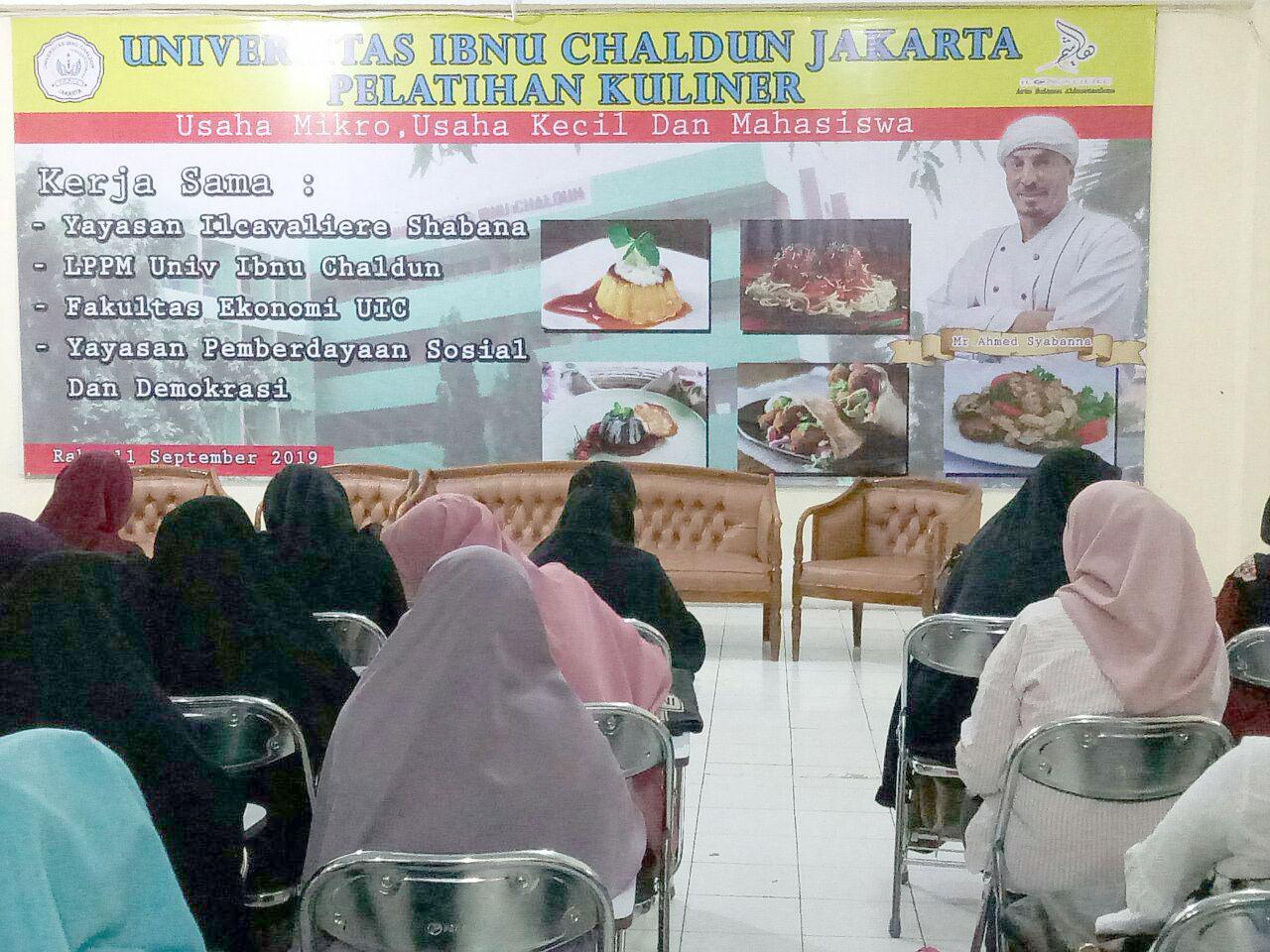 Pelatihan Kuliner Gratis Universitas Ibnu Chaldun Wujudkan Tri Darma Perguruan Tinggi